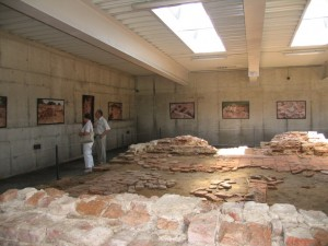 Radvilų rūmų fragmentų ekspozicija