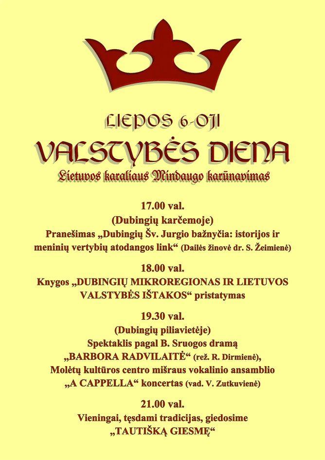 Renginiai, skirti Lietuvos nepriklausomybės atkūrimo dienai ir